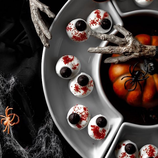 Halloween Marshmallow Eyeballs Edible Crafts