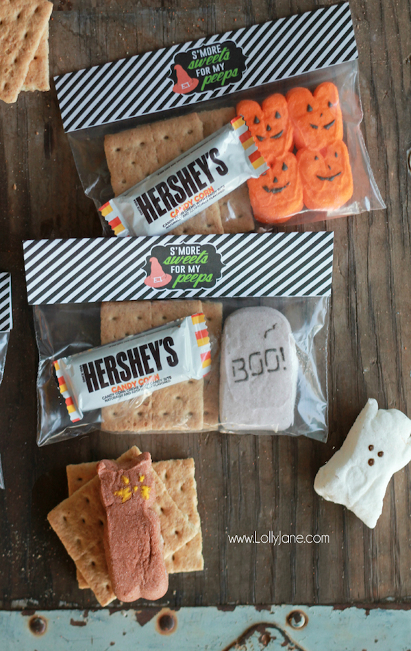 Halloween S'mores Treats with Free Printable Bag Toppers ...