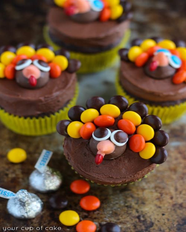 19 Edible Turkey Crafts Thanksgiving Crafts: Turkey Cupcakes For Thanksgiving
