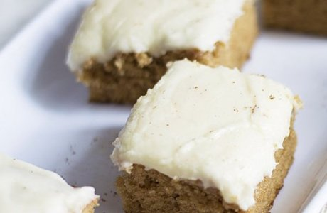 Bourbon Spice Cake with Eggnog Frosting