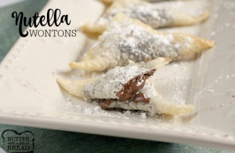 Easy Nutella WonTons