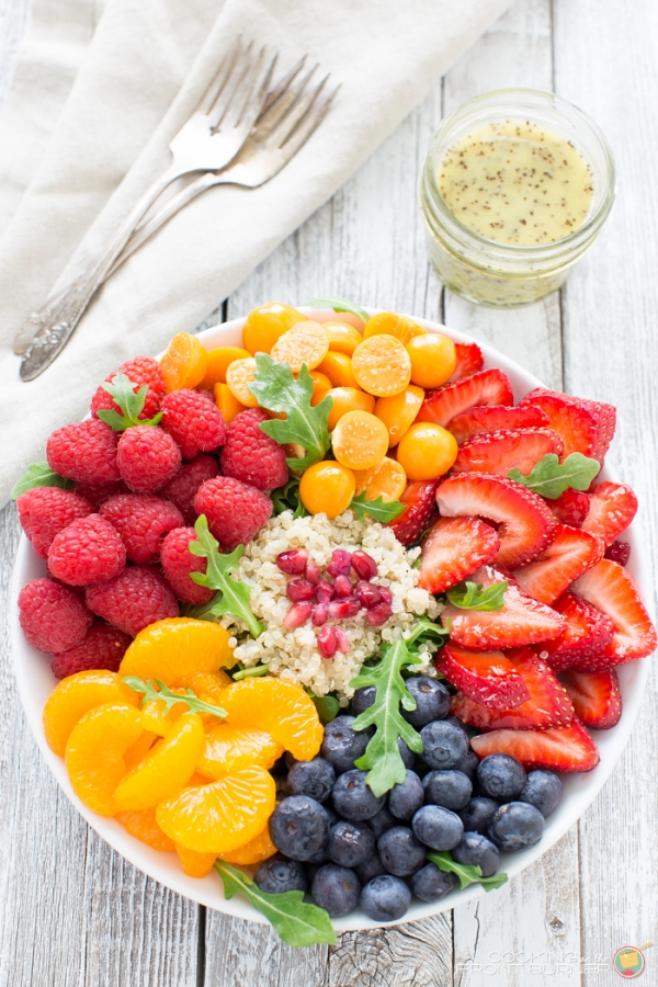Fresh Fruit FRESH FRUIT ARUGULA QUINOA SALAD – Edible Crafts
