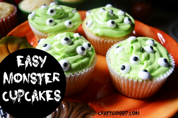 Halloween Party Food – Monster Cupcakes – Edible Crafts