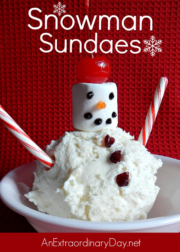 Quick & Fun Snowman Sundaes