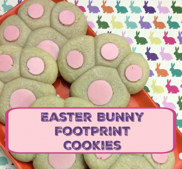 Easy To Make- Easter Bunny Footprint Cookies