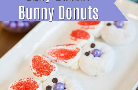 Easy 10 Minute Easter Bunny Donuts