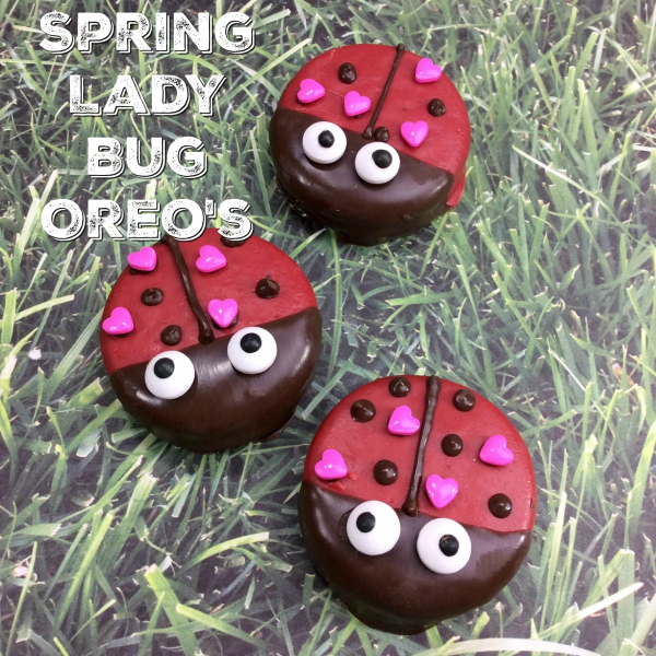 Spring Lady Bug Oreo Cookies