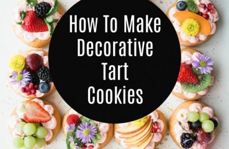 Decorative Fruit Cookie Tarts