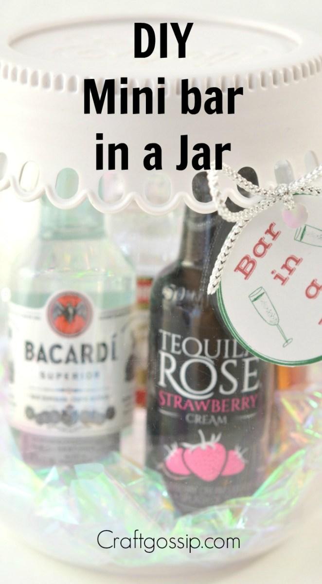 Diy Mini Bar Mason Jar Gift Edible Crafts