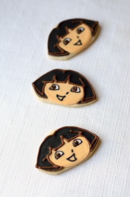 DIY Dora The Explorer Cookies