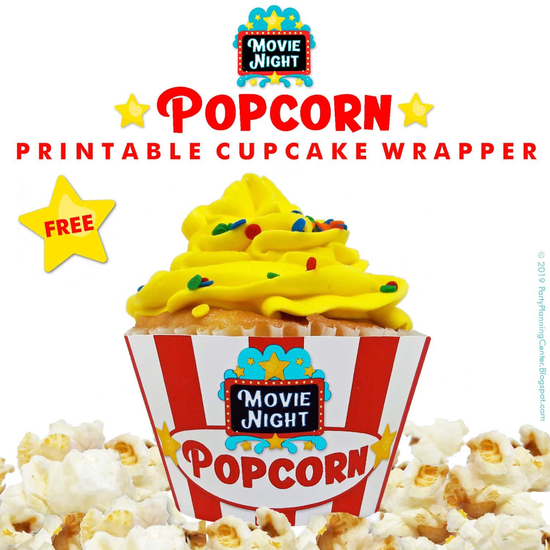 Free Printable Movie Night Cupcake Wrappers Craft Gossip