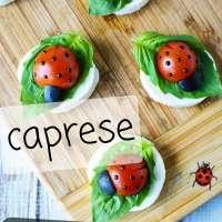 Caprese Ladybug Appetizers