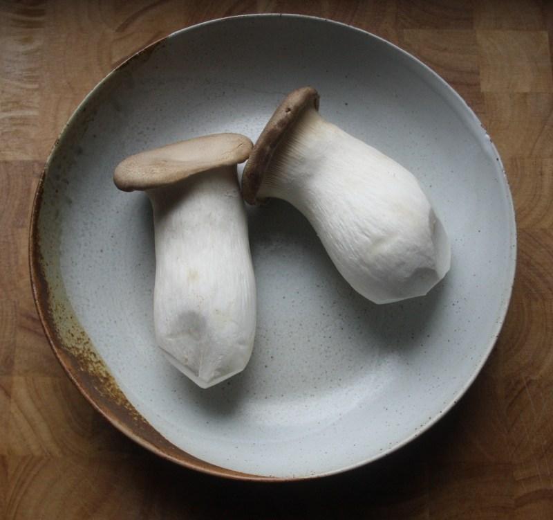 vegan pulled hoisin mushroom and ackee fried rice