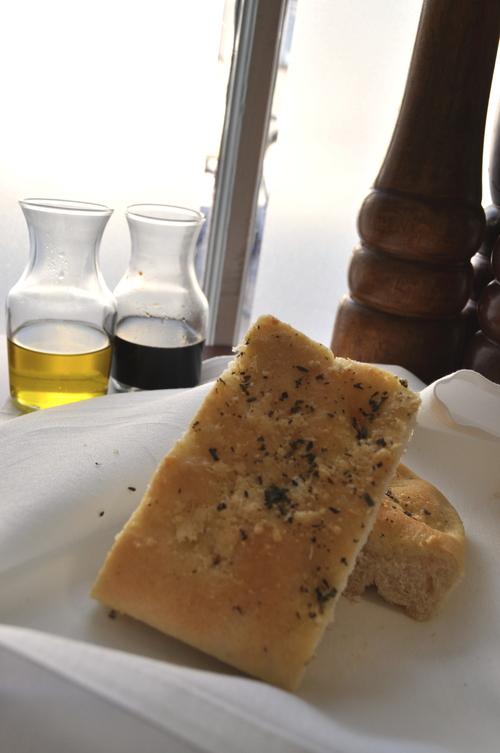 bread at a restaurant