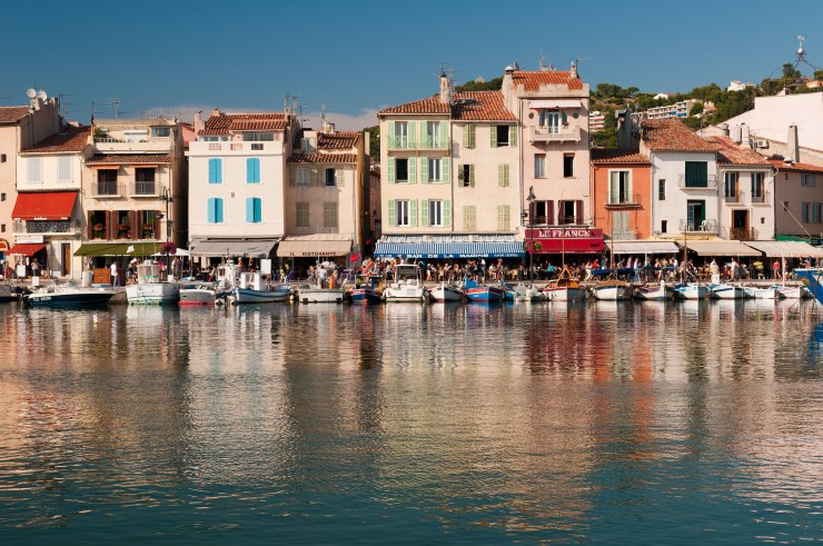 On-the-water view of Provence, France