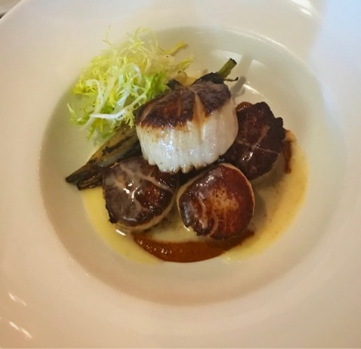 Wood fired oven scallops