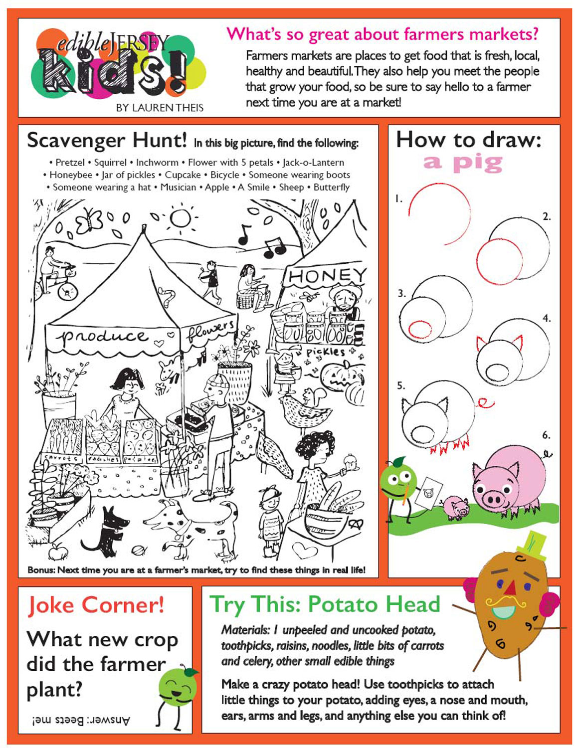 The Farmer In Hat Worksheets