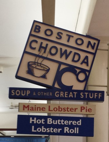 Boston Chowda at the Faneuil Hall Marketplace