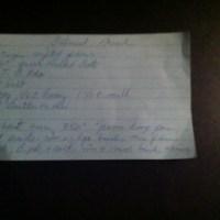 Nana's Recipe Box: Oatmeal Bread