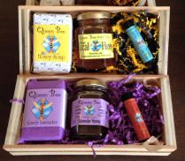 Queen Bee Honey baskets available for Mothers Day