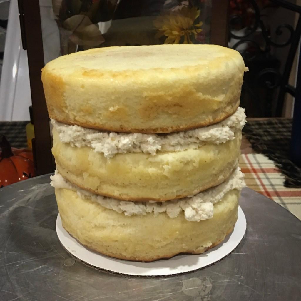 Cinnamon Roll Cake with Brown Sugar Cream Cheese Buttercream