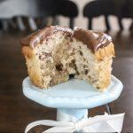 Malted Milk Ball Cupcake with Milk Dud Ganache