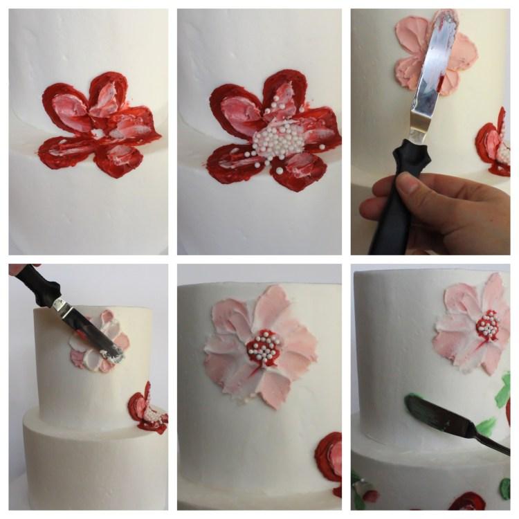 Painted Flower Buttercream Cake Tutorial