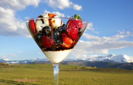 Summer Berries with a Balsamic Caramel Syrup