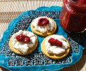 Spiked Plum Relish with Goat Cheese