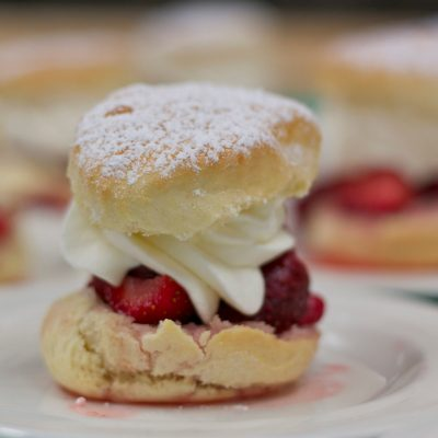 Why you don't need to worry about over-mixing dough + a scrumptious strawberry shortcake recipe