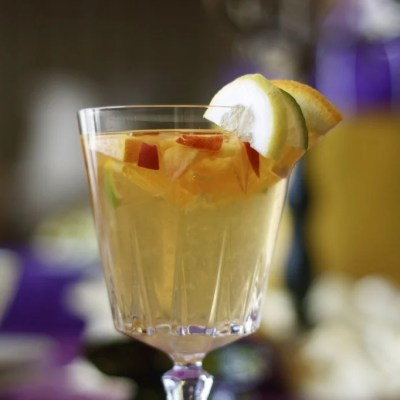 A white sangria recipe created for a Malibu sunset