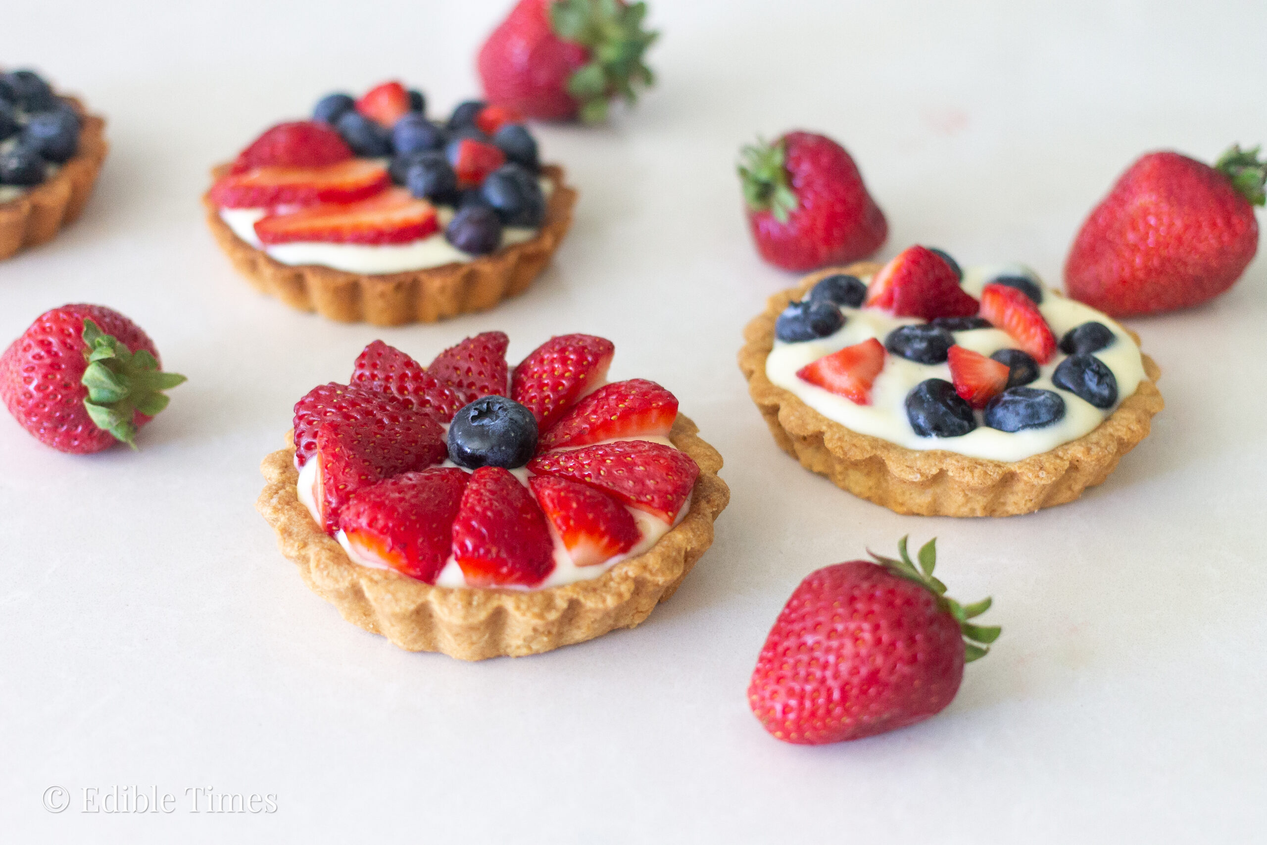 Fruit tart recipe from Edible Times