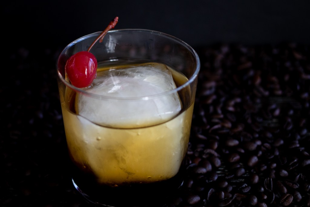 Black Russian cocktail.