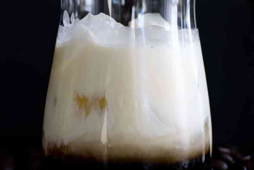 A white Russian, the most popular Kahlua drink