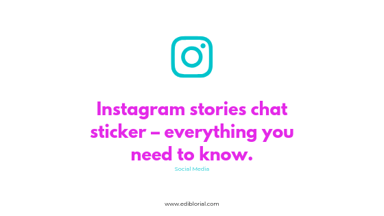 Instagram stories chat sticker - everything you need to know about new cool Instagram feature. 4