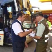 Carabineros intensifica fiscalización en terminales de buses por motivo de Fiestas Patrias