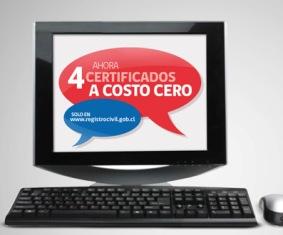 Usuarios del Registro Civil podrán sacar 4 certificados gratis por Internet