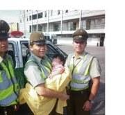 Bebé de seis meses fue abandonada en la vía pública y rescatada por Carabineros