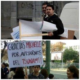 Denuncian con fotografías repartija de carteles I para atacar a Bachelet en Valparaíso