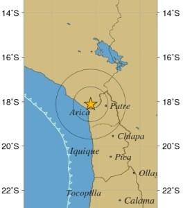 Sismo de mediana intensidad en las regiones de Arica Parinacota y Tarapacá
