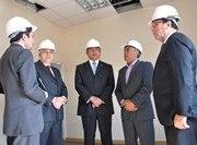 Director general(s) de la PDI visita obras de cuartel en Alto Hospicio