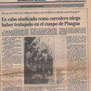 """""""Tengo mi conciencia tranquila"""" dijo Aguirre en 1990 en entrevista al Diario La Epoca"""