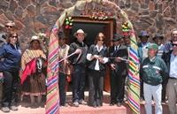Inauguran arcos ceremoniales en la entrada y salida del pueblo de Isluga