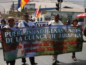 Pueblos indígenas de cuenca de Tarapacá se trasladan a  Santiago contra proyecto Paguanta