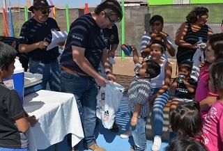 Jornada recreativa para las familias del barrio de emregencia Nuevo Renacer de Alto Hospicio
