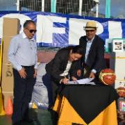 Zofri entregó implementos para escuela y liga de básquetbol de menores