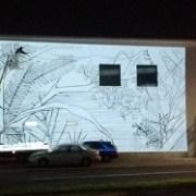 En pleno desarrollo mural de graffitero chileno que lucirá fachada de Arquitectura- Unap