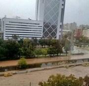 Frente de mal tiempo: Río Mapocho se desborda e inunda calles de Providencia