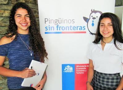 """Programa """"Pingüinos sin fronteras"""" de Corfo benefició a dos alumnas con una pasantía de cinco meses"""