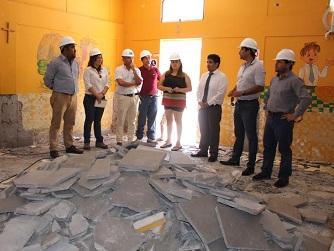 Realizan diversas obras para mejorar infraestructura en Escuela del pueblo de La Tirana